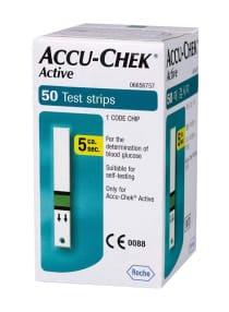 Accu-Chek 50-Piece Active Glucose Test Strips