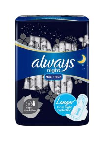 Clean & Dry Maxi Thick Night Sanitary Pads Long