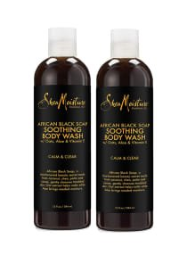 Shea Moisture Pack Of 2 African Black Soap Body Wash 13 ounce