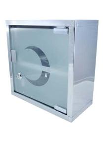 VINOXO First Aid Storage Box Silver
