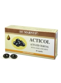 Marnys Pack Of 60 Acticol Activated Charcoal Capsules With Anise And Mint