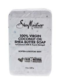 Shea Moisture 100% Virgin Coconut Oil Shea Butter Bar Soap-8 oz