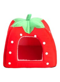 XbotMax Foldable Strawberry Pet House Red 43 centimeter