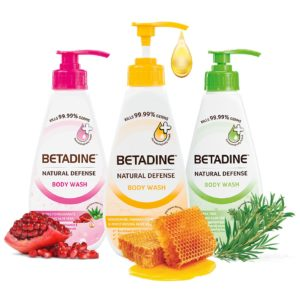 Betadine Natural Defense Anti Bacterial Body Wash for sale in Sharjah, Dubai in UAE