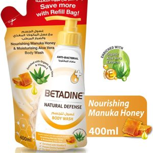 Betadine Natural Defense Anti Bacterial Body Wash Nourishing Manuka Honey Body Wash Refill for sale in Dubai, Sharjah and other Emirates in UAE