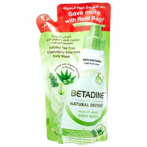 Betadine Natural Defense Anti Bacterial Body Wash Purifying Tea Tree Body Wash Refill for sale in Dubai, Sharjah and other Emirates in UAE