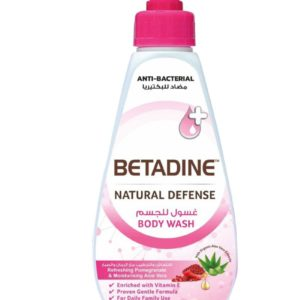 Betadine Natural Defense Anti Bacterial Body Wash Refreshing Pomegranate for sale in Dubai, Sharjah and other Emirates in UAE